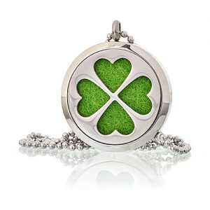 4 Leaf Clover Aromatherapy Diffuser Necklace