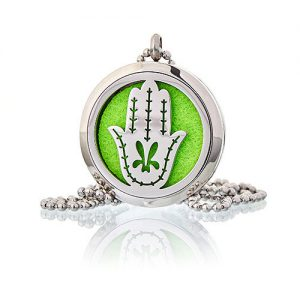 Hand of Fatima Aromatherapy Diffuser Necklace