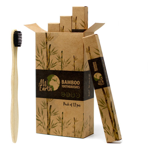 charcoal bamboo tooth brushes