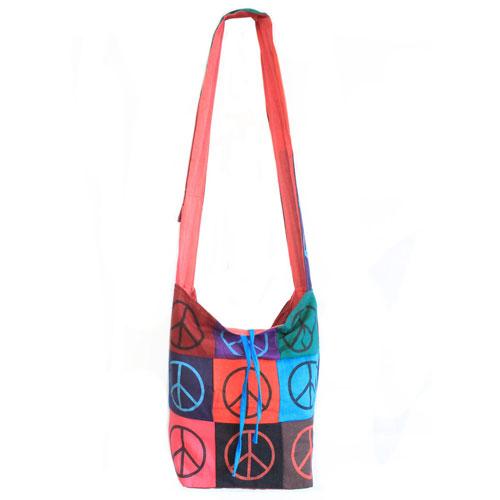 cotton patch sling bag peace 1