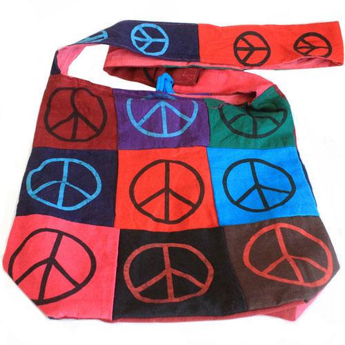 cotton patch sling bag peace 3