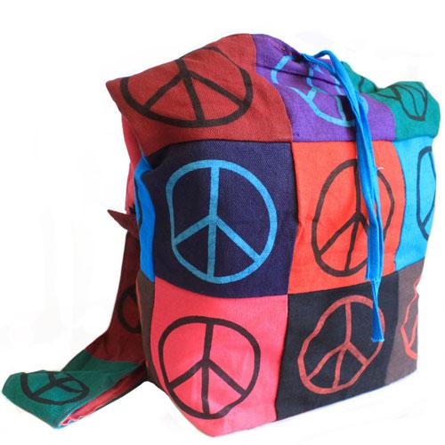cotton patch sling bag peace