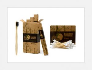 Bamboo Toothbrush and Cotton Buds
