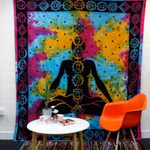 Chakra Cotton Bedspread and Wall Hanging