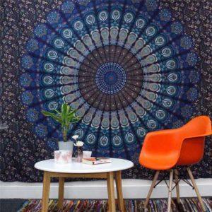 Mandala Cotton Bedspread and Wall Hanging