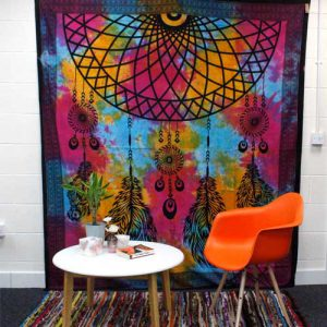 Dream Catcher Cotton Bedspread and Wall Hanging