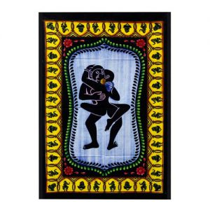 Kama Sutra Hand brushed Cotton Wall Art