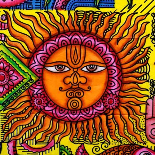 wall art sun