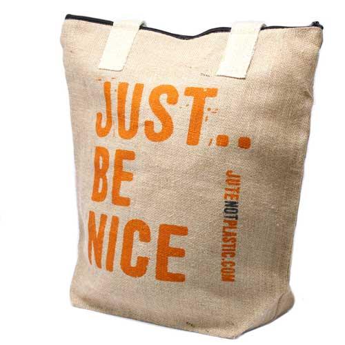 Just be nice Eco Jute Bag