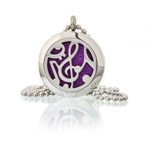 Music Note Aromatherapy Diffuser Necklace