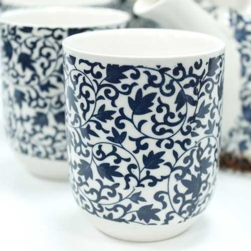 herbal teapot set blue 1