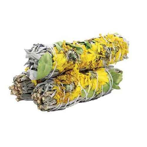 sunflower sage smudge stick