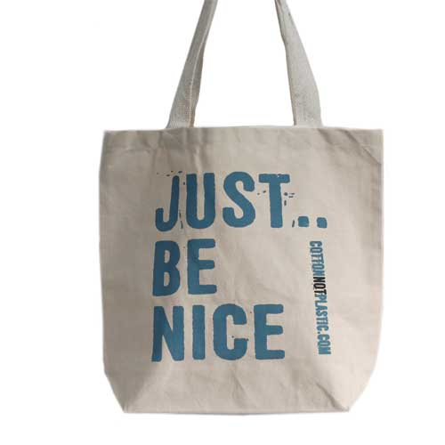 Be Nice Eco Cotton Bags