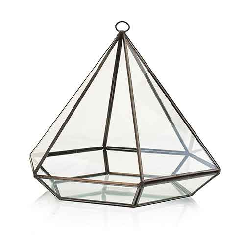 Glass Terrarium Large Diamond