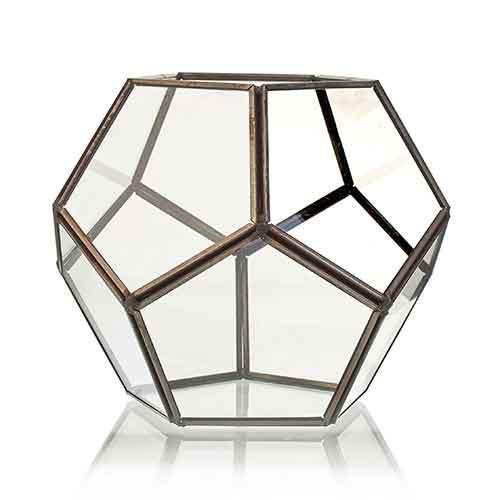 Glass Terrarium Large Octagon