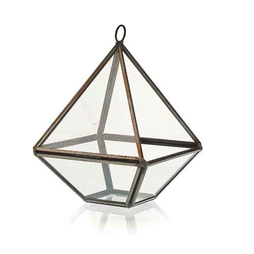 Glass Terrarium Small Diamond