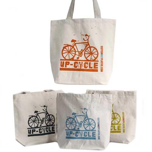 up cycle eco cotton bag 1