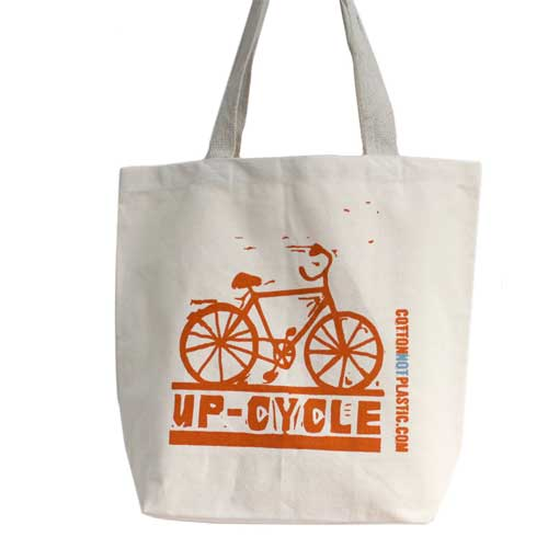 up cycle eco cotton bags